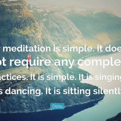 1) meditacion, silencio