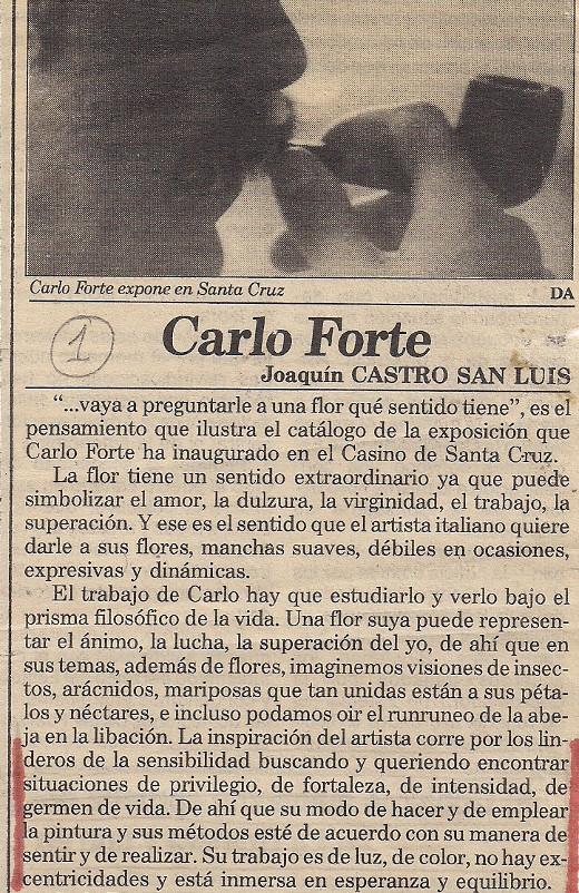 Carlo Forte - pintor de Tenerife