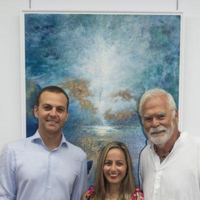 Pol & Yaiza Díaz con  Carlo Forte - Pintor de Tenerife